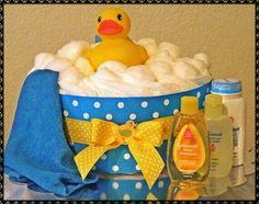 Diaper Cake. Cute Bath Idea.