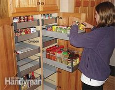 Kitchen Storage: Cabinet Rollouts - diy