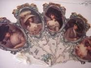 Victorian Ladies w/Large Hats 5-Piece Folding Fan