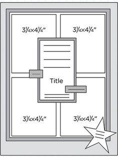 Scrapbook Page Sketch 203