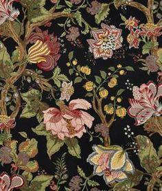 Braemore Alhambra Ebony Fabric | onlinefabricstore.net