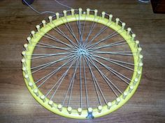 Needle Weaving in the Round ~~ Part One Warping a Knifty Knitter Loom