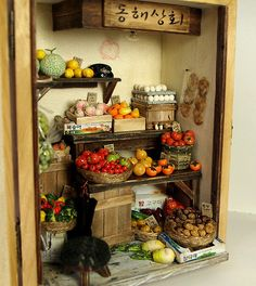 Vintage Small old Shop - Fruit and Vegetables by DollhouseAra