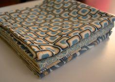 Cloth Napkin Tutorial by shecanquilt, via Flickr napkin tutori, cloth napkins
