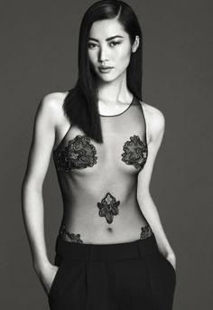 #LaPerla #SS14 #bodysuit #black #lingerie
