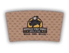 Buffalo Wild Grill and Bar custom printed Java Jacket™ coffee sleeve.