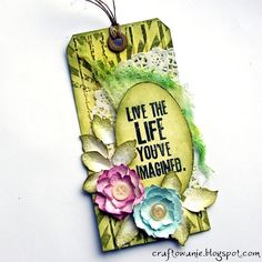 Matilde: tag colored with Distress Ink http://craftowanie.blogspot.com/2013/04/life-life-youve-imagine.html