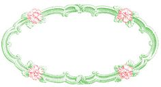 FREE PRINTABLE:- Delicate Oval Frame Insert - Also in Blue, Green, Black and Red!!!
