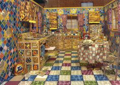 Artist Liza Lou spent five years creating this kitchen that is made entirely our of beads.