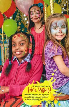 Washable, non-toxic and easy-to-use, our quality face paints are perfect for a day of kid-friendly fun!