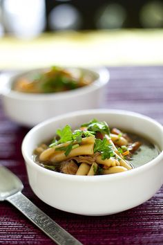 Chinese Chicken Noodle Soup... I'd cheat and use either boneless/skinless breasts or rotisserie chicken and some store-bought stock.