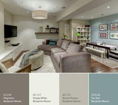 basement colors, color schemes, color combos, color pallets, paint colours