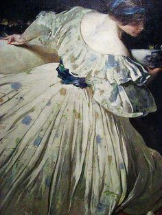 John White Alexander (American artist, 1856-1915) The Blue Bowl 1898
