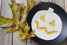 Jack-o-Lantern Quesadillas - easy Halloween party food.