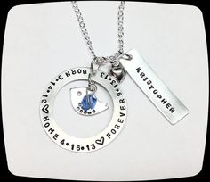 HandStamped Jewelry, Mommy Necklace, Adoption Jewelry, Born, Home, Forever, Adoptive Foster Parent on Etsy, $26.00
