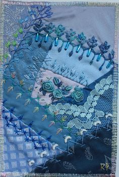crazy quilting-love the different stitches