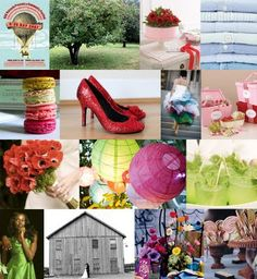 Wizard of Oz wedding moodboard