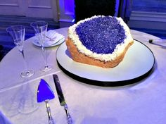 Claire + James | Geode Groom's Cake | @fsdallas
