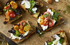 Grilled Bread with Ricotta and Tomatoes photo
