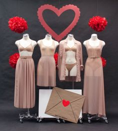 Valentine's Day Lingerie display inspiration by #AmericanApparel  #lingerie #Vday2013 #merchandizing