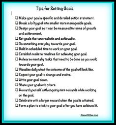 Tips for Setting Goals (timewiththea)