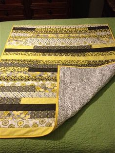 Yellow & Black Quilt-As-You-Go from Jelly Roll - Quilters Club of America