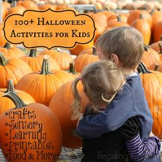 Over 100 Halloween ideas for kids including crafts, sensory play, food, printables, learning activities, and more