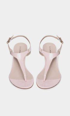 pink sandal, tstrap sandal, shoe, petal sandal