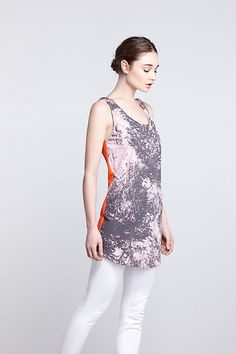 Photosprig Tank Dress #anthropologie mixed fabric top tunic