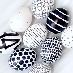 graphic, craft, pattern, colors, egg decorating, black white, paint, easter eggs, modern design