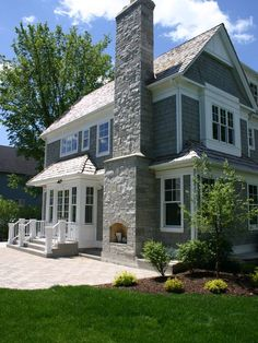 Gray House Exteriors With Rock Design, Pictures, Remodel, Decor and Ideas - page 9