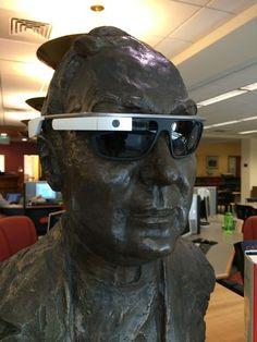 Fr. Bart wearing Google Glass!