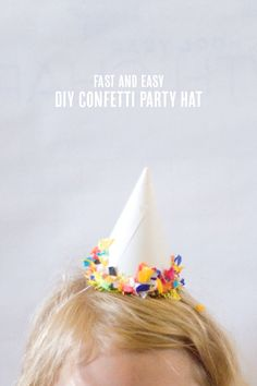 Easy DIY Confetti Party Hats