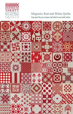 Red and white Infinite Variety. Brings back memories of that amazing exhibit.
