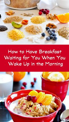 Make a nourishing, hot breakfast while you sleep. Lots of different grain options.