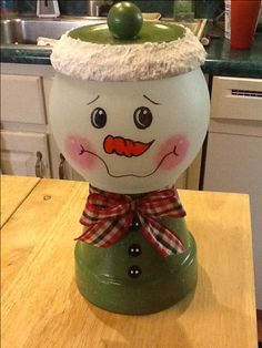 My snowman candy dish. Happy Holidays!