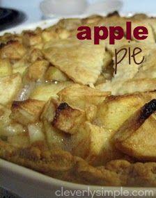 Easy Apple Pie Recipe!  Yum!