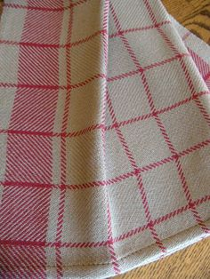 Kitchen Towel Handwoven Rustic Red Kitchen by ThistleRoseWeaving