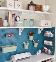 I love how the peg board is utilized!