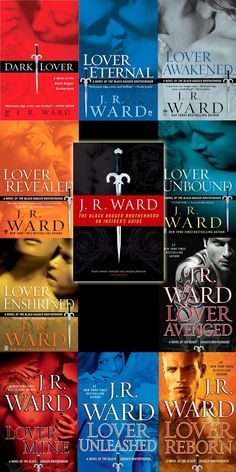 Every book from the Black Dagger Brotherhood Series.