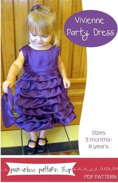 Vivienne Party Dress sewing pattern by Peek-a-boo Pattern Shop on @GoToPatterns