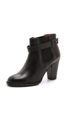gore strap booties / madewell