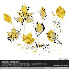 Golden Leaves No. 01 at Designer Digitals