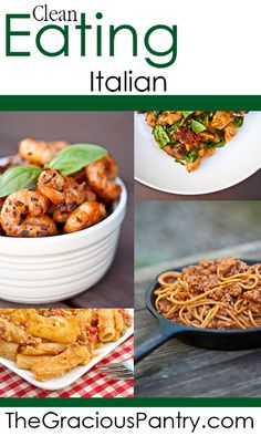 Clean Eating Italian Style Recipes.  #cleaneating #eatclean #cleaneatingrecipes #italian #italianfood #italianrecipes #italianfoodrecipes