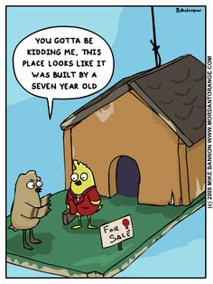 Bird Humor: What birds really think about your handmade birdhouses! By Mordant Orange