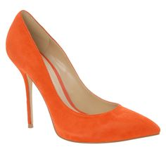 Orange pumps. Yes, please.