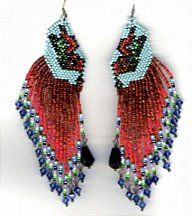 Butterfly Earrings Pattern by Charlotte Holley - Beaded Legends by Chalaedra at Bead-Patterns.com