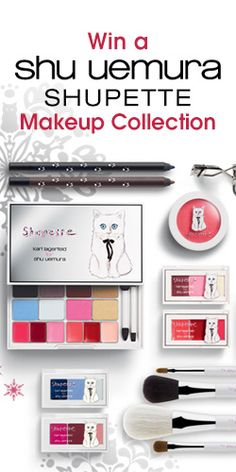 #RePin and Get in to #Win a Shu Uemura Shupette Holiday #Makeup Collection! #cosmetics #prize #contest VALID UNTIL NOV 13