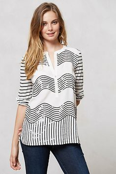 Sequin Waves Top  #anthropologie