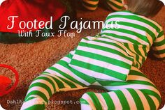 foot pajama, union suit, pattern, dahlhart lane, homemade baby gifts